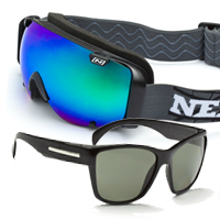 Optic Nerve Boreas Rocker Goggles and Grifter Glasses