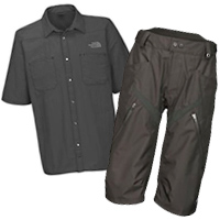 The-North Face Downieville Colab Shorts and Wrencher Shirt