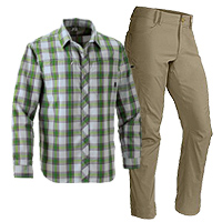 First Ascent Guide Pants and High Route Shirt