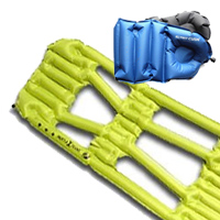 Klymit Inertia X Frame Sleeping Pad and Cush Seat Pillow
