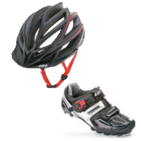 Louis Garneau T-Flex 300 Mountain Biking Shoes and Edge Mountain Biking Helmet