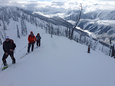 Corbin Pass Revelstoke Backcountry Skiing