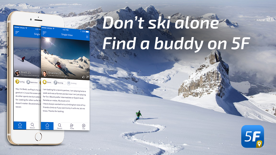 App to find ski buddies
