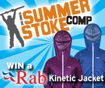 backcountry skiing canada summer stoke comp rab kinetic jacket