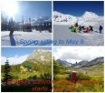 Canadian Adventure Company's Mallard Mountain Lodge: ski tour until May 8 ~ hiking scenery extravaganzas start June 26