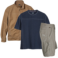 Kuhl Performace clothing, Kuhl Thor 1/4 Zip Sweater, Kuhl Sabre Full Zip Sweater, Kuhl Burr Jacket, Kuhl Thunder Short Sleeve Shirt, Kuhl Rambler Shorts, Kuhl Renegade Pants, Kuhl Revolver Pants