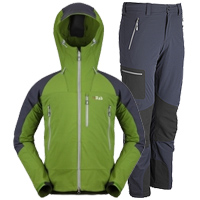 Rab Scimitar soft shell Pants and Jacket