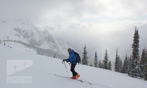 Valhalla Mountain Lodge backcountry skiing