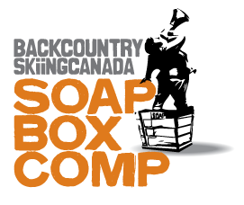 backcountry skiing canada soap box comp