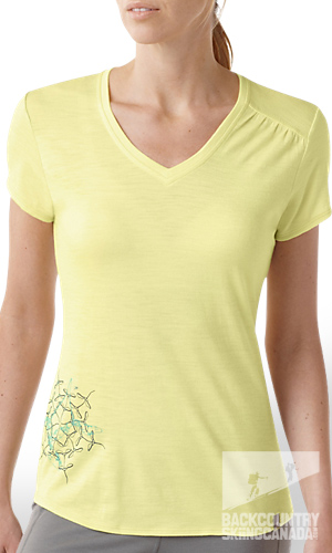 smartwool Women's Short Sleeve Flight V-Neck Tee