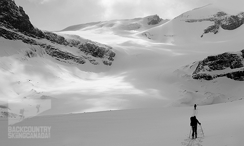 Backcountry Skiing Canada, wapta traverse,  Peyto Hut, Bow Hut, Balfour Hut, Scott Duncan Hut, Mt. Olive, Mt. Balfour