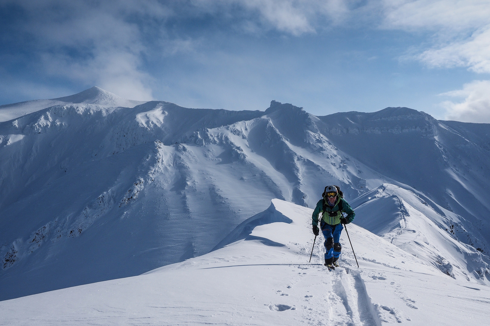 Ski Touring In Hokkaido Japan