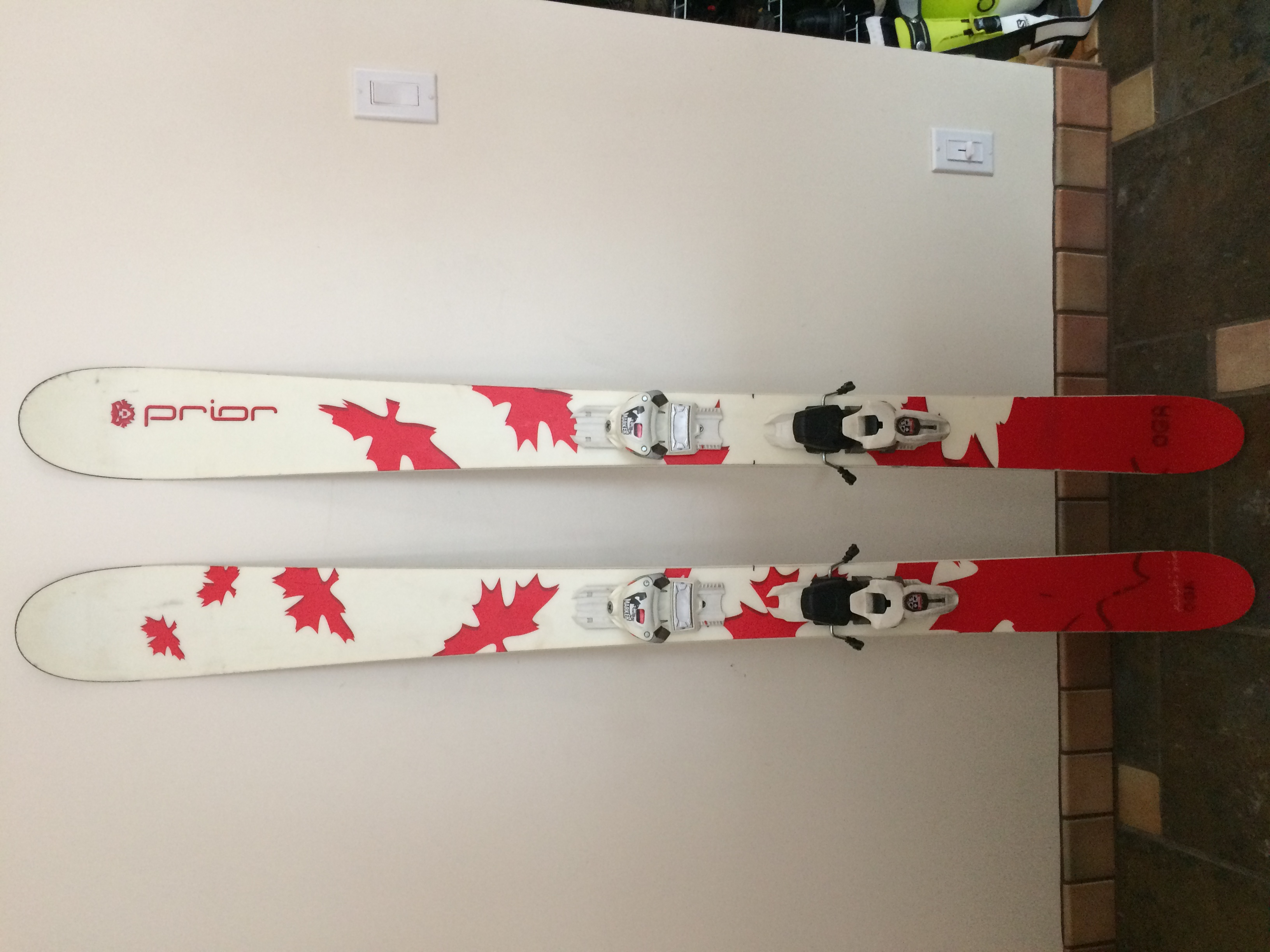 167 Prior Skis with Griffin Marker Bindings