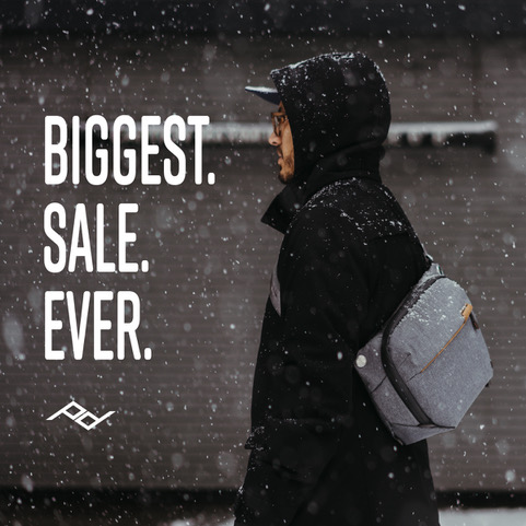 Huge Peak Design Sale