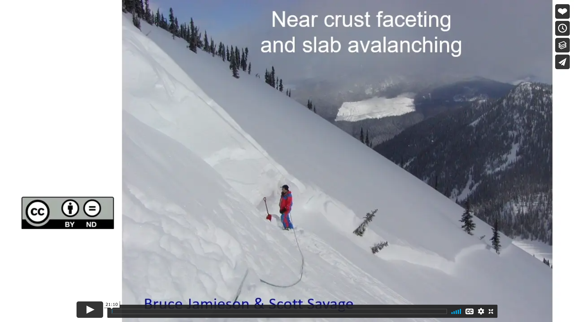 Near crust faceting and slab avalanching with Bruce Jamieson and Scott Savage