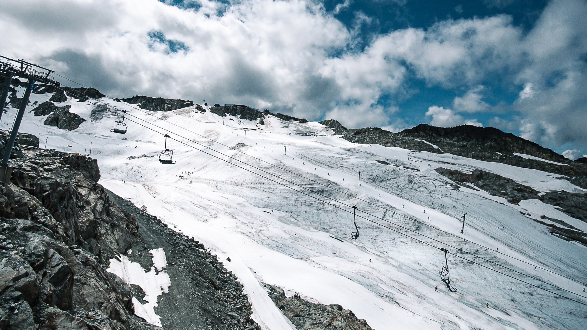 Hortsman T-bar removed from Blackcomb Glacier