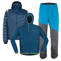 La Sportiva Zeal, Phase Down Jacket and Axiom Pants