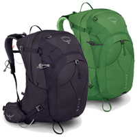 Osprey Mira and Manta Backpacks