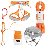 Petzl Meteor Helmet, Sitta Harness, Volta Climbing Rope, and RAD System - REVIEW