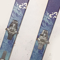 G3 Siren Skis with Dynafit Vertical Bindings