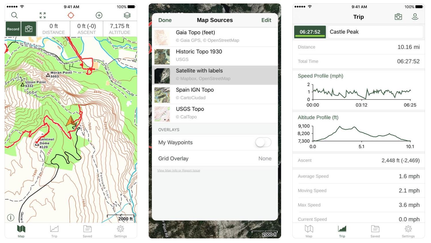 Gaia GPS app