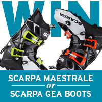 WINNER ANNOUNCED!!! Win a pair of SCARPA Maestrale or SCARPA Gea Boots
