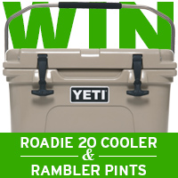 Win a YETI Roadie 20 Cooler & Two Rambler Pints by entering our latest giveaway!