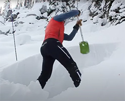 How To Dig A Snow Pit - VIDEO